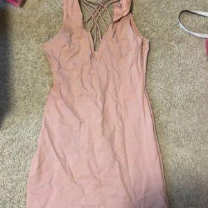 Charlotte Russe Bodycon Dress- Blush Pink, Medium